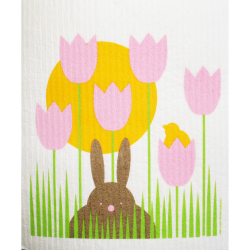 Swedish Dishcloth - Bunny Garden (219.62)