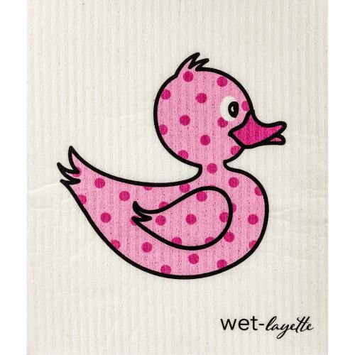 Swedish Washcloth - Pink Duck (70083)