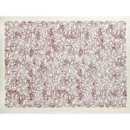 Swedish Drying Mat - Paisley Red (70085)