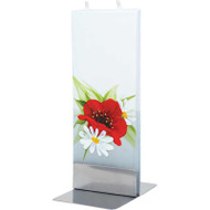 Handmade Flat Candle - Poppy and Daisy (FL065)