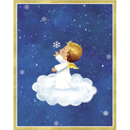 Caspari Boxed Christmas Cards - Angel on Cloud Snowflake - 16 In (86012)