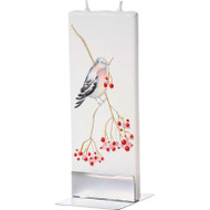 Handmade Flat Candle - Bird and Berries (D1705)