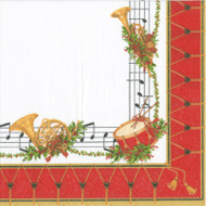 Christmas Concert Paper Luncheon Napkins