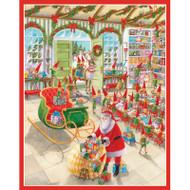 Caspari Boxed Christmas Cards - Santa's Workshop - 16 In (86029)