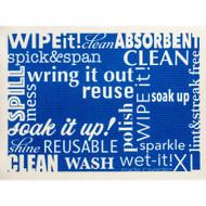 Swedish Drying Mat - Word Art - Blue (70088)