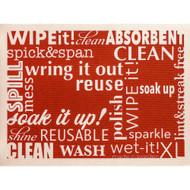 Swedish Drying Mat - Word Art - Red (70089)