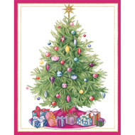 Tree With Gifts Christmas Card Box A Size 16 In (87019)