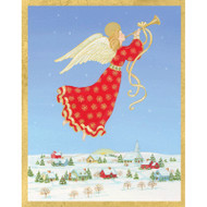 Angel Over Town Christmas Card Box A Size 16 In (87005)