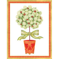 Hydrangea Topiary Christmas Card Box A Size 16 In (87021)