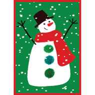Happy Snowman Christmas Card Box B Size 16 In (87111)