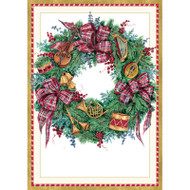Musical Wreath Christmas Card Box B Size 16 In (85112)