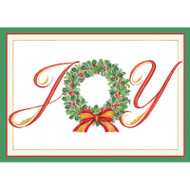 Joy Wreath Christmas Card Box B Size 16 In (87101)