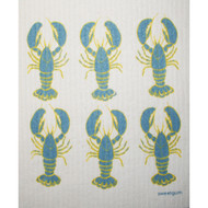 Swedish Dishcloth - Lobsters - Blue/Yellow (70092)