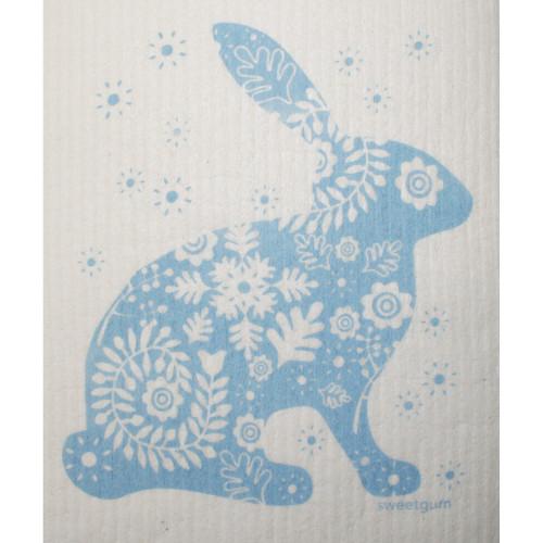 Swedish Dishcloth - Blue Bunny (70094)