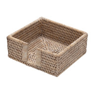 Rattan Cocktail Napkin Holder - White Natural