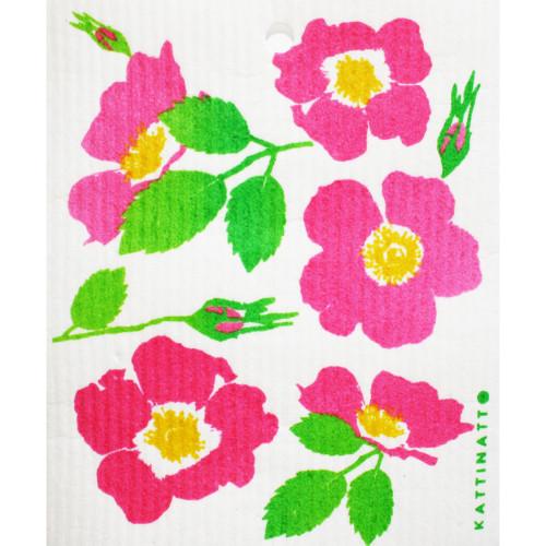 Swedish Dishcloth - Wild Roses (56219)
