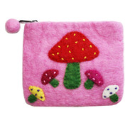 Felt Coin Purse - Mushrooms (F334)
