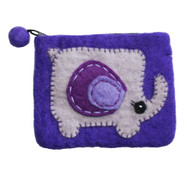 Felt Coin Purse - Elephant (F300)