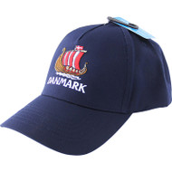 Danmark Viking Ship Embroidered Cap/Golf Hat (44518)