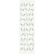 Ekelund Table Runner - Sitting Birds - Green (Sitting Birds-R)