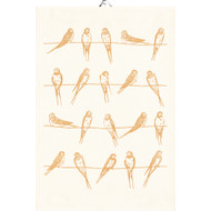 Ekelund Tea/Kitchen Towel - Sitting Birds - Yellow (Sitting Birds-12)