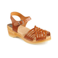 Anna Clog-Sandals in Cognac - Women's (066-366)
