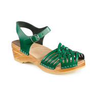 Anna Clog-Sandals in Grass Green - Women's (066-254)