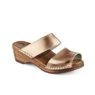 Karin Clog-Sandals in Rosewood Metallic - Women's (6381-338)