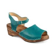 Greta Clog Sandal - Teal Blue (6803-273)