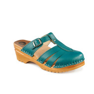 Mary Jane Clog Sandals - Teal Blue (6077-273)