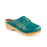Lisa Clog-Sandals - Teal Blue - Women's - Original Sole Collection (273-373)