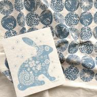 Dish Towel & Dishcloth Set - Woodland and Blue Bunny - 2 Pc's (TT01S)