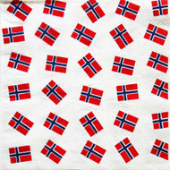 Norway Flags Paper Luncheon Napkins - 20 Pack (40177)