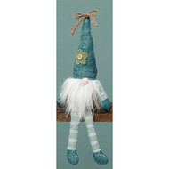 "Fabric Meadow Floppy Gnome Sitter - Blue Hat - 13"" (T3478B)"