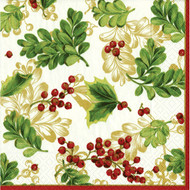 Winter Berries Paper Cocktail Napkins (10810C)