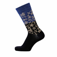 Bengt & Lotta Socks - Garden Blue - merino wool/cotton blend (712702)