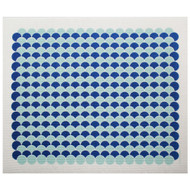 Swedish Drying Mat - Scallops - Aqua/Blue (220.12)