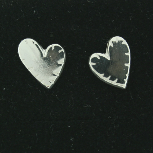 Silver Earrings - Broken Heart - Post (101-112)