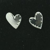 Silver Earrings - Broken Heart - Post (101-112)