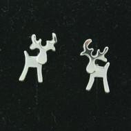 """Silver Earrings - Reindeer - 1/4"""" Post (101-22)"""