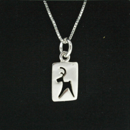 Silver Necklace/Pendant - Cut Out Reindeer - Post (101-10)