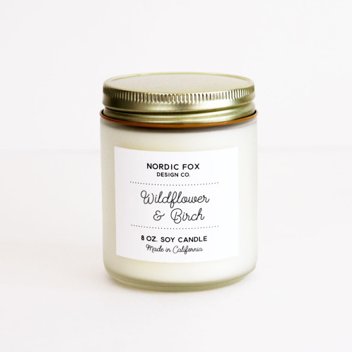 Wildflower & Birch Handmade Scented Natural Soy Candle (CA-Wild)