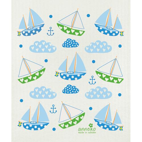 Swedish Dishcloth - Sailing Boats (DT1805)