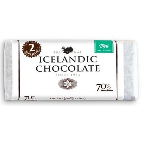 Icelandic Dark Chocolate Mint Bar 70% - 2 Pack (25110)