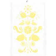 Ekelund Tea/Kitchen Towel - Tinas Kurbits - Yellow (Tinas Kurbits-22T)