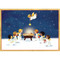 Creche With Angels Christmas Card Box B Size 16 In (85109)