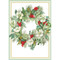 Hellebore Wreath Christmas Card Box B Size 16 In (86102)