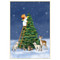 Baby Angel and Tree Christmas Card Box B Size 16 In (88105)