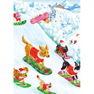 Off Leash Christmas Card Box B Size 16 In (88116)