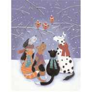 Pet Wish Birds Christmas Card Box C Size 16 In (81256)